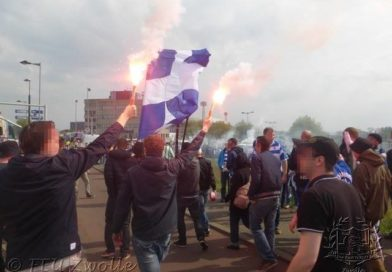Video: Aankomst supportersbussen beker finale 2014